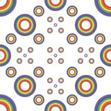 Seamless pattern of rainbow circles vector illustration