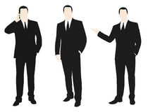 Vector collection of men dressed in a suit. Royalty Free Stock Photo
