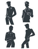 Vector collection of men silhouettes Royalty Free Stock Photo