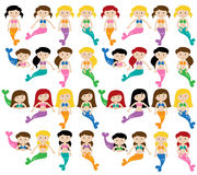 Vector Collection of Mermaids Stock Images