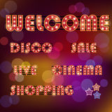 Vector collection of neon signboards Stock Photo