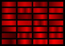 Free Vector Collection Of Red Metallic Gradients, Chrome Christmas Gradient S Stock Images - 130413534