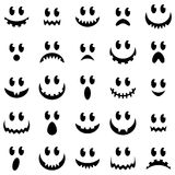 Vector Collection Of Spooky Halloween Ghost And Pumpkin Faces Royalty Free Stock Images