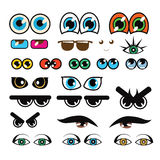 Vector Collection Of Various Eyes Stock Image