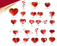Free Vector Collection Of Various Hearts. Royalty Free Stock Images - 17961189