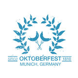 Vector Collection of Oktoberfest hand drawn logo templates. Stock Image