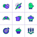 Vector collection of outline icons, bakery and cooking. High qua. Vector pictogram suitable for print, website and presentation Royalty Free Stock Image