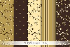 Vector Collection of paper for scrapbook Stock Photography