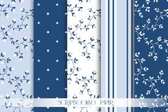 Vector Collection of paper for scrapbook Royalty Free Stock Images