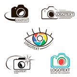Vector collection of photography logo templates. Photocam logotypes Royalty Free Illustration