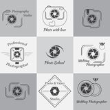 Vector collection of photography logo templates Royalty Free Stock Photography