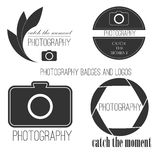Vector collection of photography logo templates Royalty Free Stock Images