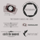 Vector collection of photography logo templates Stock Photography