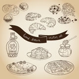 Vector collection of pie, cakes and sweets icons Stock Photography