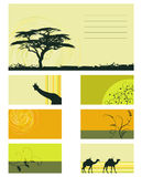 Vector collection - plants and animals. Card - collection - plants and animals Stock Illustration