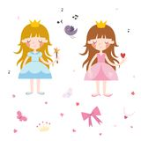Vector Collection of Pretty Princesses Stock Images