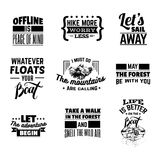 Vector collection of quote typographical background vector illustration