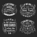 Vector collection of quote typographical background Stock Photography