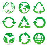Vector collection with recycle signs and symbols Stock Image