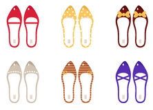 Vector collection of retro vector shoes. Royalty Free Stock Photography
