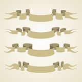 Vector collection ribbons Stock Photography