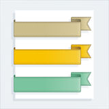 Vector collection ribbons Royalty Free Stock Images