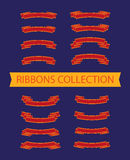 Vector collection of ribbons. Royalty Free Stock Image