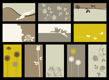 Vector collection with roses. Card -  collection with roses Royalty Free Stock Images