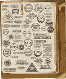 Vector collection of rubber stamps. Vector collection of grunge rubber stamps on old paper Stock Images