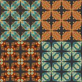 Vector Collection of Seamless Vintage Patterns Stock Images