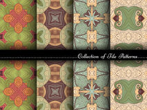 Vector Collection of Seamless Vintage Patterns Royalty Free Stock Images