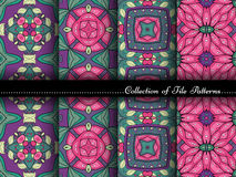Vector Collection of Seamless Vintage Patterns Royalty Free Stock Image