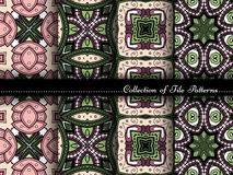 Vector Collection of Seamless Vintage Patterns Royalty Free Stock Photo