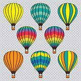 Vector collection set with air balloons Stock Photography