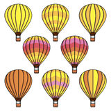 Vector collection set with air balloons Royalty Free Stock Images