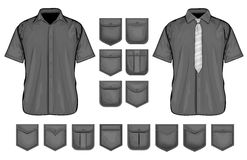 Vector collection of shirt pockets design Royalty Free Stock Images