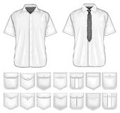 Vector collection of shirt pockets design Stock Image