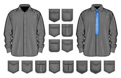 Vector collection of shirt and pockets Royalty Free Stock Photos
