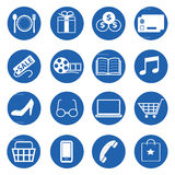 Vector collection of shopping icons set Royalty Free Stock Photos
