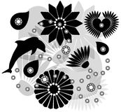 Vector collection of silhouettes Royalty Free Stock Images