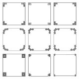 Vector collection of simple square frame in greek style Royalty Free Stock Images