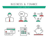 Vector collection of simple thin business and Stock Images