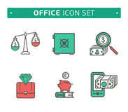 Vector collection of simple thin business and Royalty Free Stock Photography