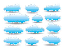 vector collection of  clouds Royalty Free Stock Photos