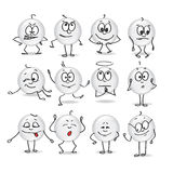 Vector smiley emotions moods Royalty Free Stock Photos