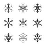 Vector collection of snowflakes Stock Image