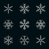 Vector collection of snowflakes Royalty Free Stock Photo