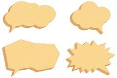 Vector speech bubbles, consisting of waffles Stock Photos