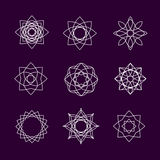 Vector collection of spirographs Royalty Free Stock Photography