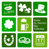 Vector collection: st. patrick's day icons Royalty Free Stock Image